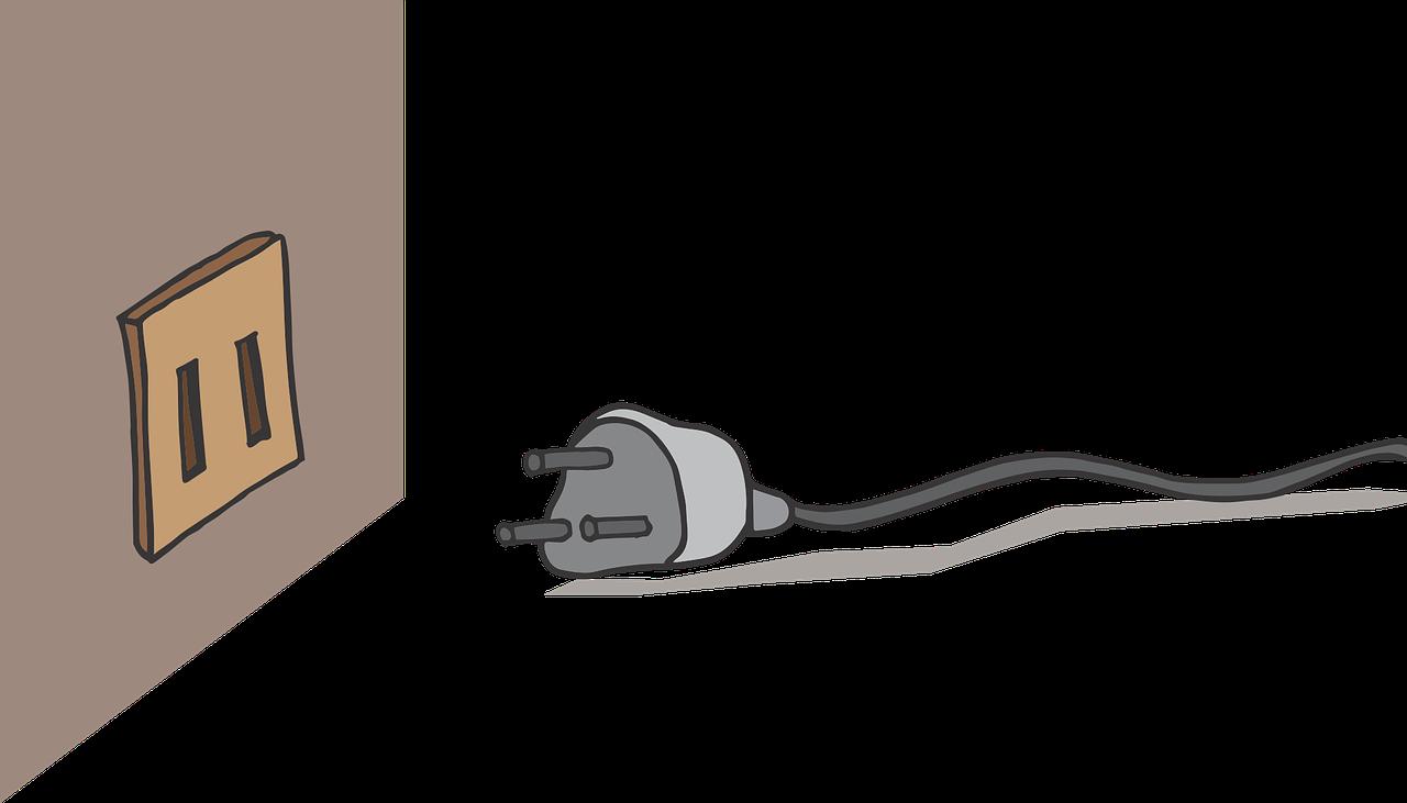 electrical supply: plug, socket