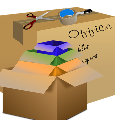 Boxes for office moving