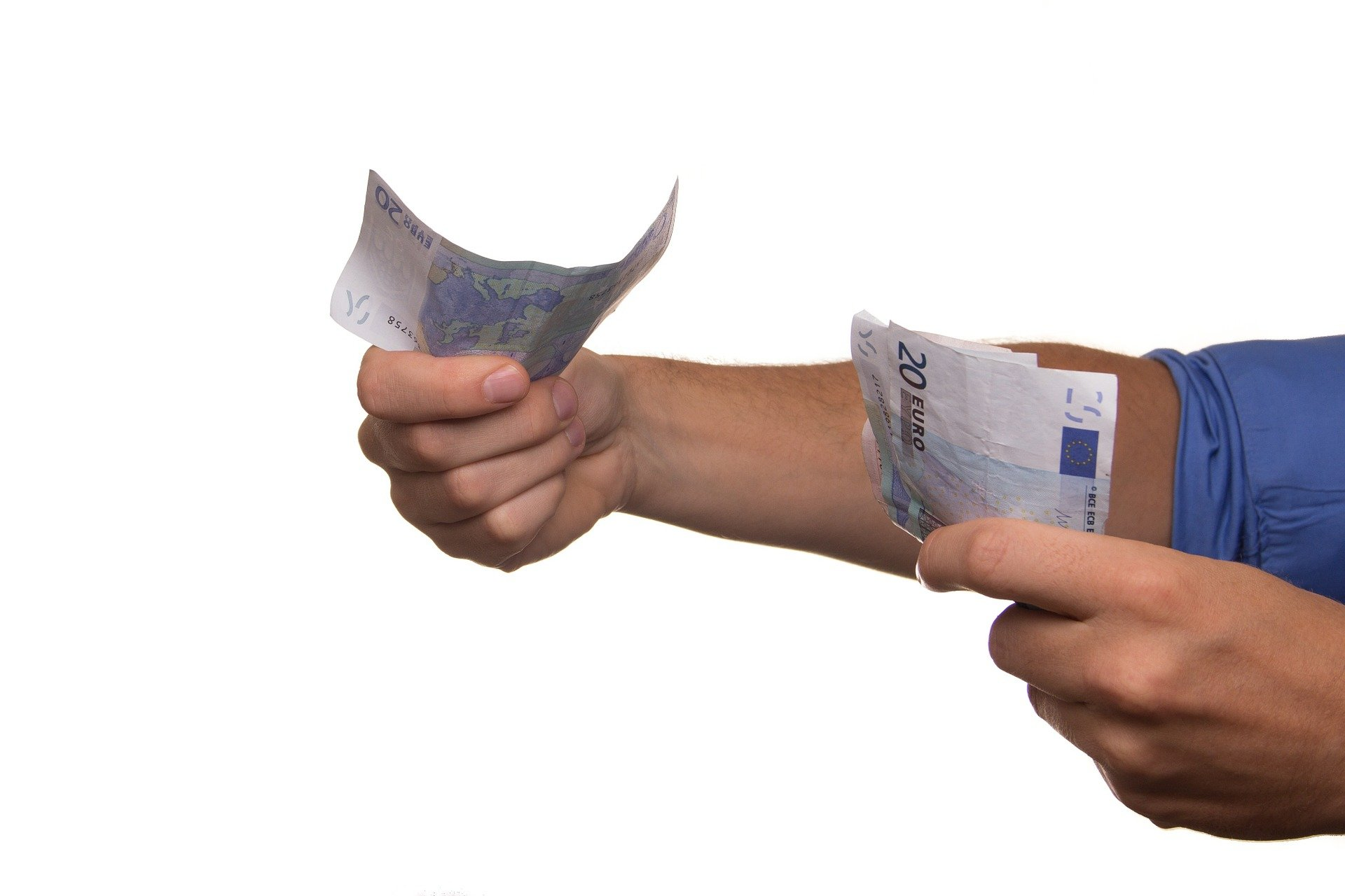 Person giving out 247 cash loans